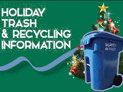 Holiday trash-recycling graphic